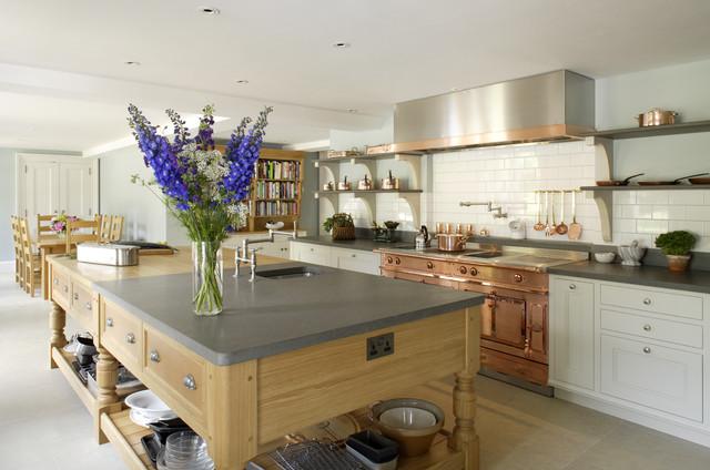 Copper la cornue oven transitional kitchen hampshire by artichoke - Plaque deco cuisine retro ...