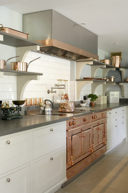 Copper La Cornue Oven Transitional Kitchen