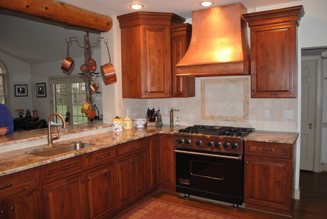 Copper Range Hood Craftsman Kitchen Austin By