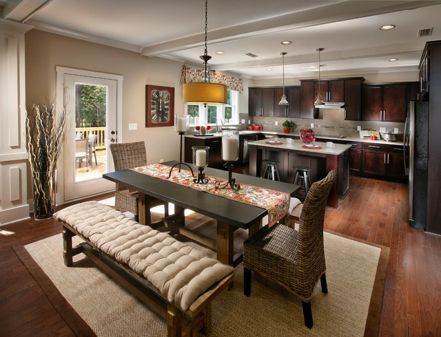Copper run neighborhood model home traditional kitchen for Model home kitchens