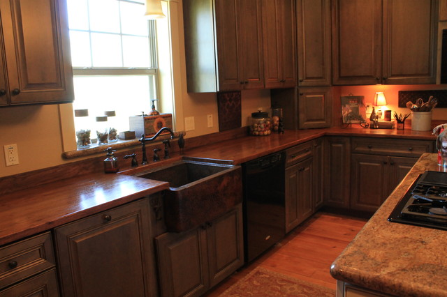 Copper Sink and Countertops traditional kitchen