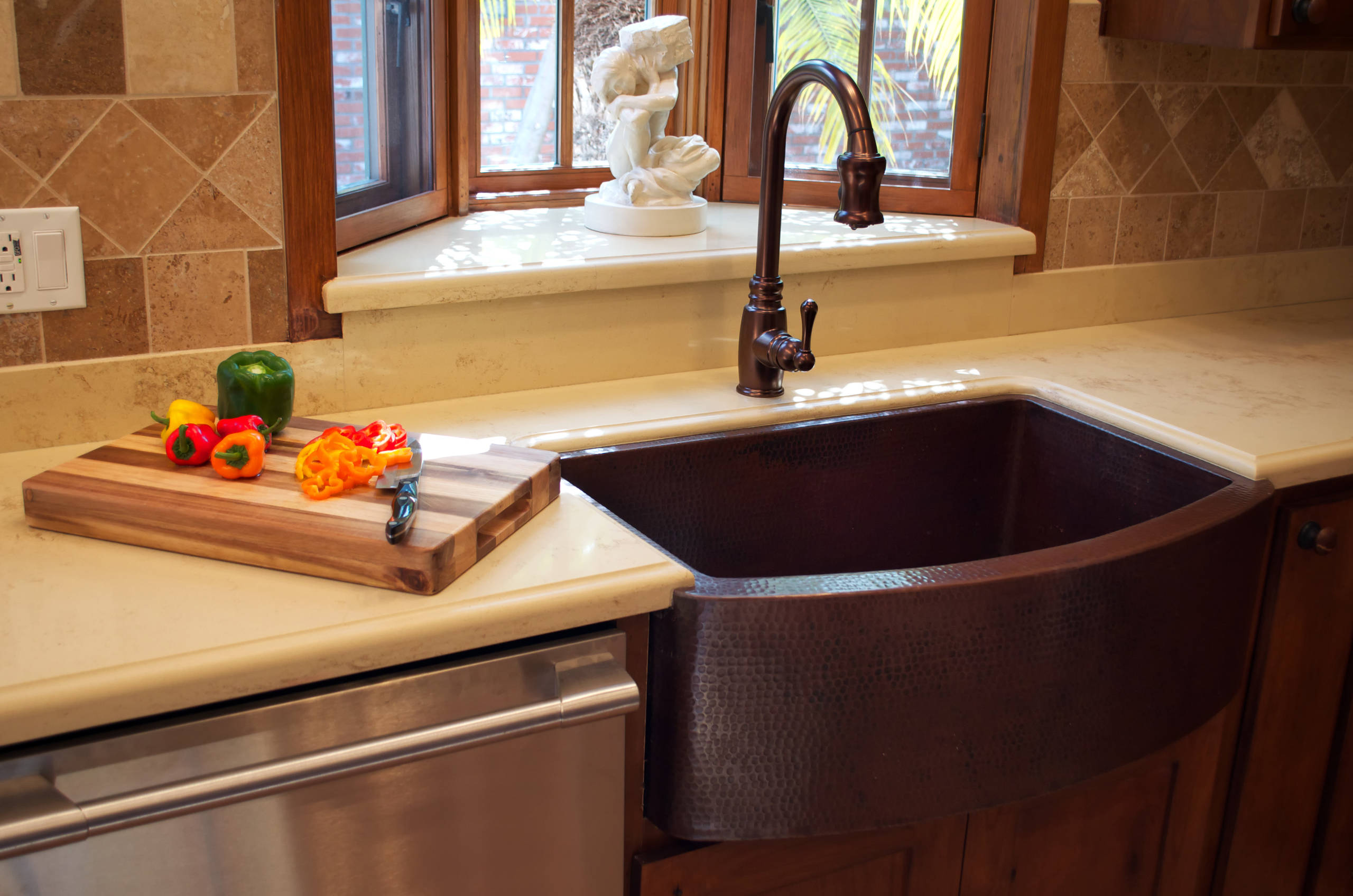 Image of: Copper Farmhouse Sink Houzz
