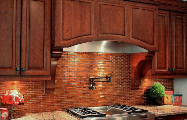 Copper Tiles Traditional Kitchen