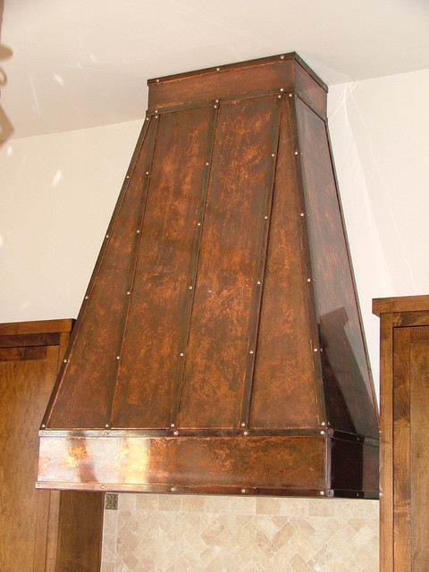 Copper Vent Hoods ~ Copper vent hood traditional kitchen dallas by