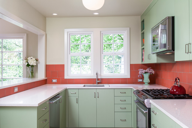 Coral + Jade Kitchen Remodel - Transitional - Kitchen - Portland - by Howells Architecture ...