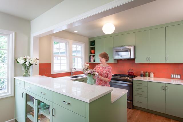 Coral Jade Kitchen Remodel Transitional Kitchen Portland