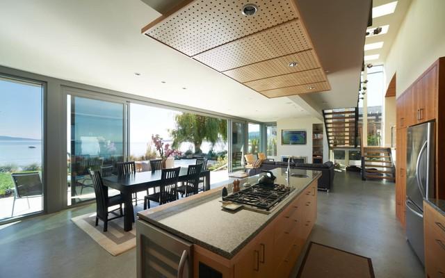 Cordova Bay Summer Home modern-kitchen