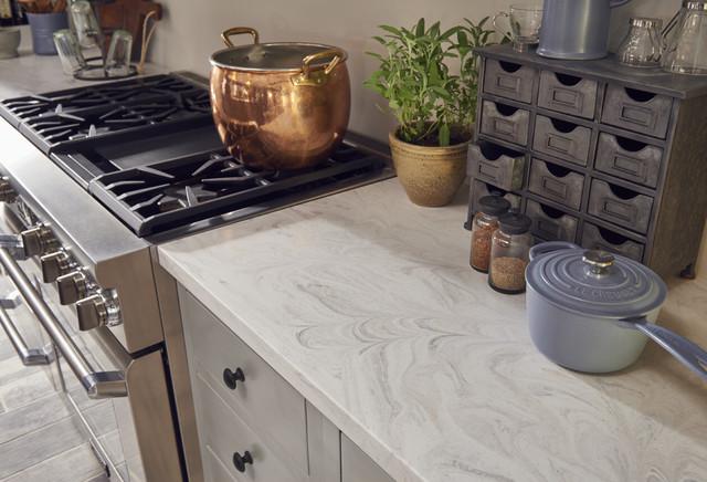 Corian® Limestone Prima - Klassisch - Küche - von Corian Design UK