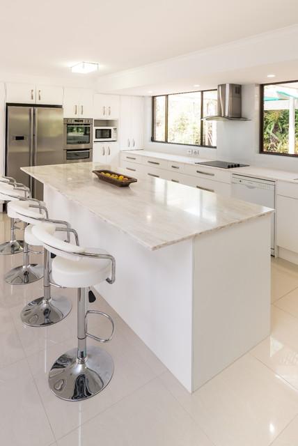 Countertop Dishwasher Adelaide : Corian Kitchen - Contemporary - Kitchen - adelaide - by Brilliant SA
