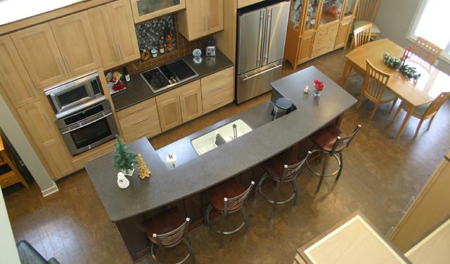 Cork flooring plank modern kitchen grand rapids for Hardwood floor dealers