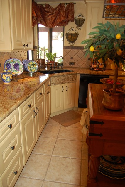 Corner Apron Sink : Corner Apron Sink - Traditional - Kitchen - orange county - by Laurie ...