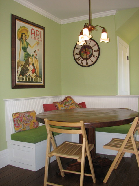 Corner Banquette Traditional Kitchen