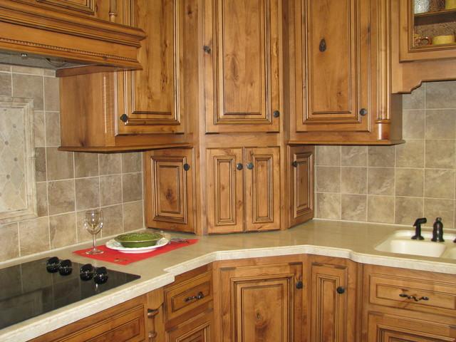 Corner cabinet design - Traditional - denver - by Jan ...