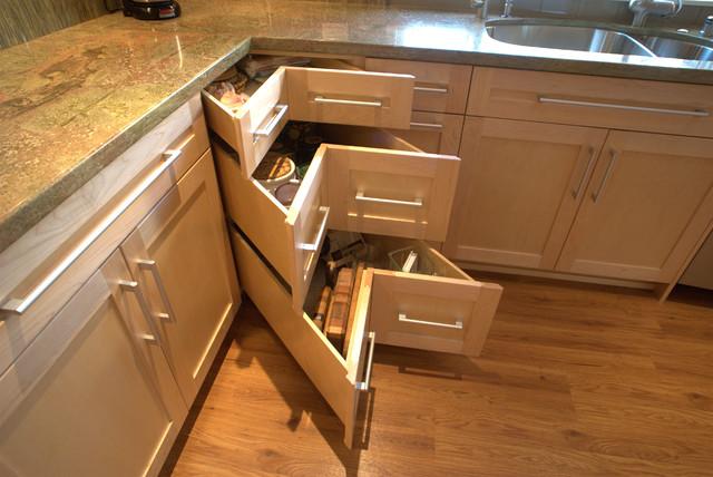 Corner drawers   trendy   køkken   san diego   af design moe ...