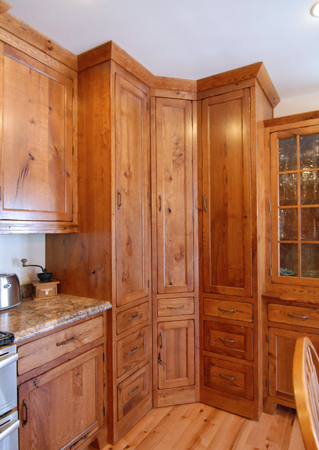 corner pantry - Traditional - Kitchen - other metro - by Crossroads Custom Cabinetry