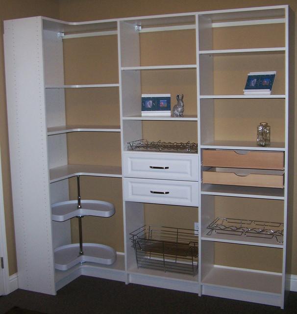 Corner pantry shelves for Traditional kitchen shelves