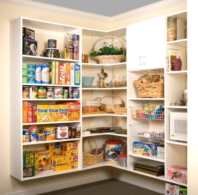 Shelving Ideas For Pantry Corner Pantry Shelving Systems: Corner Pantry Storage