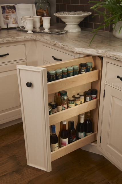 Corner Spice Pull-out - Traditional - Kitchen - Houston - by ...