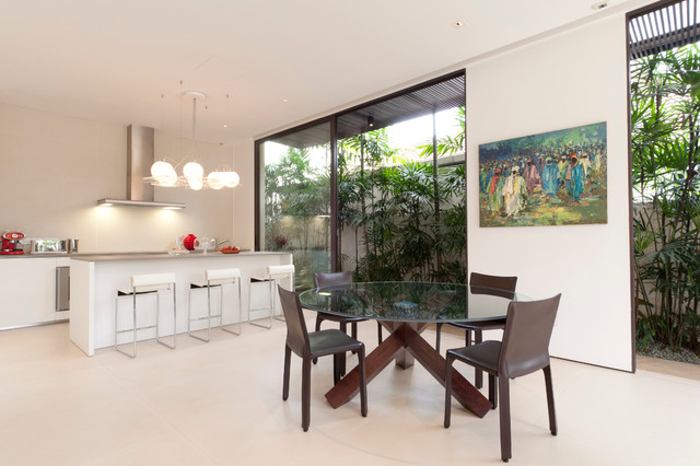 Corner Terrace House @ Bloxhome Drive - Singapore modern-kitchen