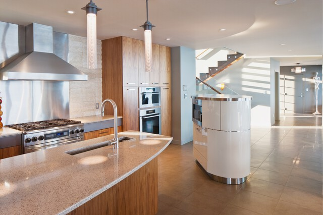 Cornwall on the Water contemporary-kitchen