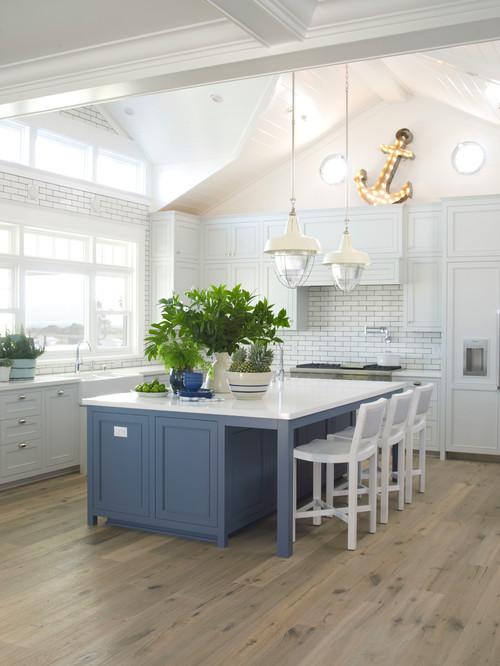 beach-style-kitchen 15 Beautiful Nautical Lighting Design Examples