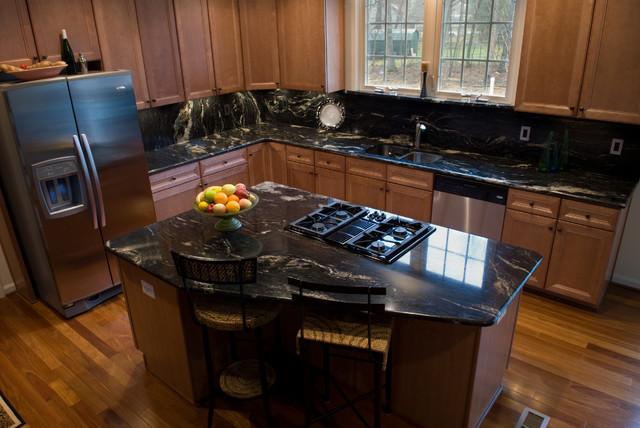 cosmic black granite traditional kitchen dc metro by granite grannies. Black Bedroom Furniture Sets. Home Design Ideas