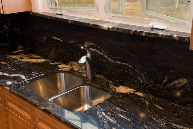Cosmic black granite traditional kitchen dc metro by granite