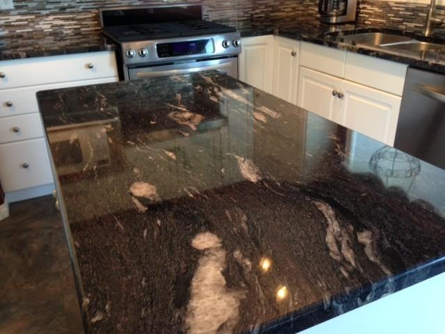 Cosmic Black Granite Kitchen/Vanities/Fireplace - Modern ...