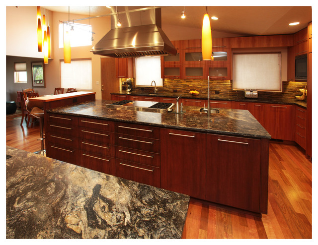 Cosmic Black Granite Contemporary Kitchen Albuquerque By Rocky Mountain Stone Co Inc