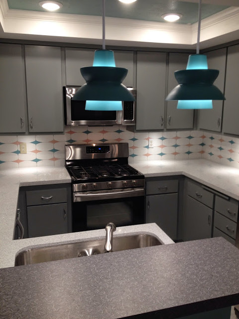 Costa Mesa Retro Style Kitchen Remodel Midcentury Kitchen Orange County By Mr Cabinet Care