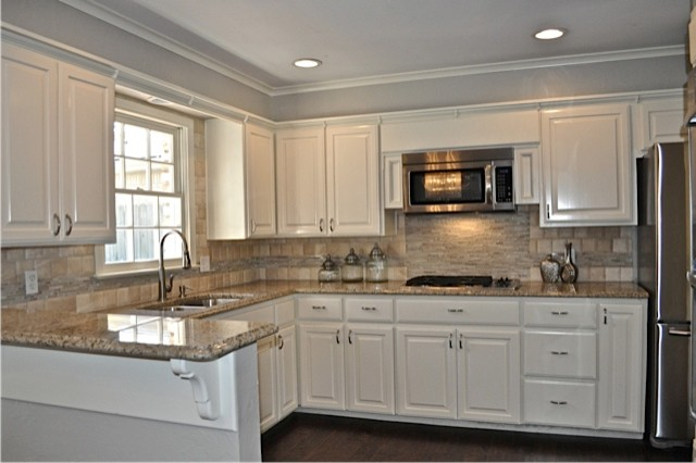 Cottage contemporary traditional kitchen oklahoma for Kitchen units for sale in harare