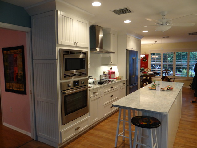 Cottage Galley Kitchen With Functional Island Craftsman Kitchen Other By Inndesign Inc