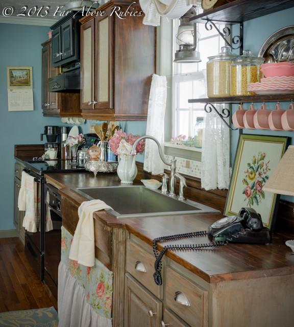 Vintage style küche  Cottage kitchen vintage style - Landhausstil - Küche - Atlanta ...