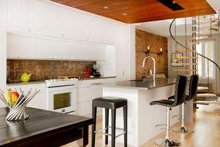 Cottage Rue Garnier Contemporary Kitchen Montreal