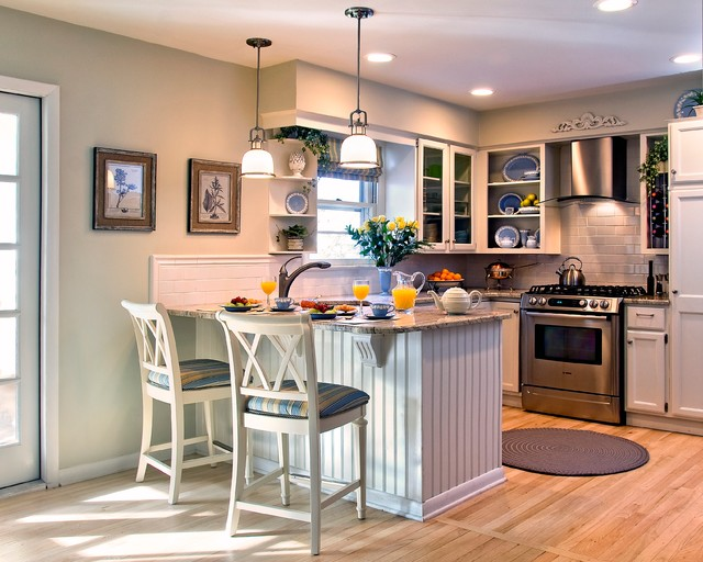 Cottage style kitchen after bord de mer cuisine new for Cuisine style cottage