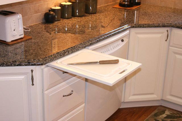Pull Out Cutting Board in Kitchen traditional-kitchen