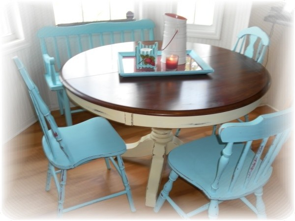 Cottage Style Kitchen Table and Chairs - Eclectic - Kitchen ...
