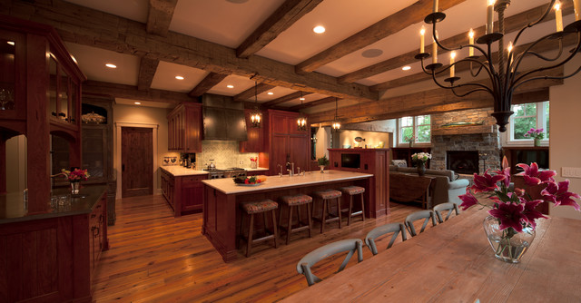 Cottage Style Meets Modern Living - Rustic - Kitchen - Minneapolis - by Kyle Hunt & Partners ...