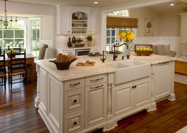 Cottage White Kitchen eclectic-kitchen