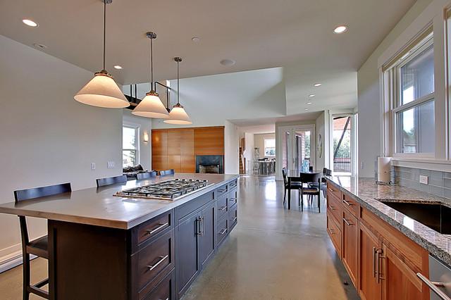 Cougar Mountain Custom Home contemporary-kitchen