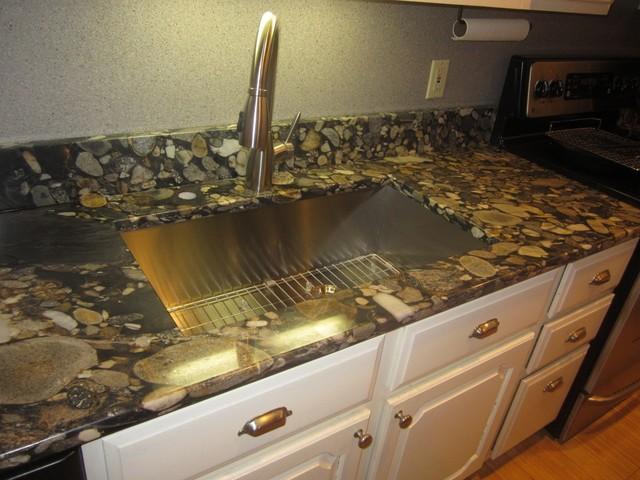 Counterra Black Marinace Gold Granite Mediterranean  : mediterranean kitchen from www.houzz.com size 640 x 480 jpeg 89kB