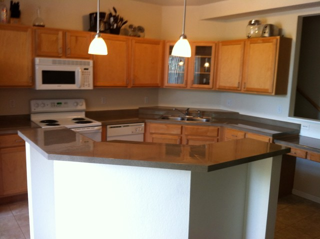 Refinishing as part of a kktchen remodel contemporary kitchen