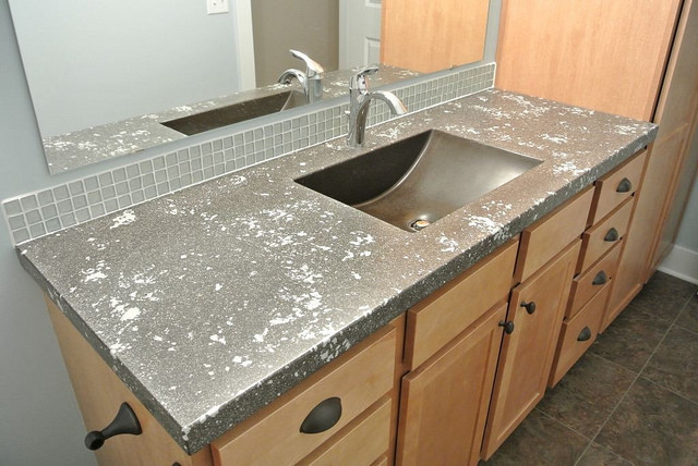 Countertops/Solid Surfaces contemporary-bathroom-countertops