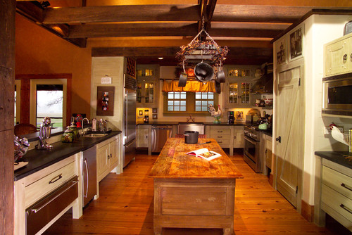 Country Barn retreat eclectic kitchen