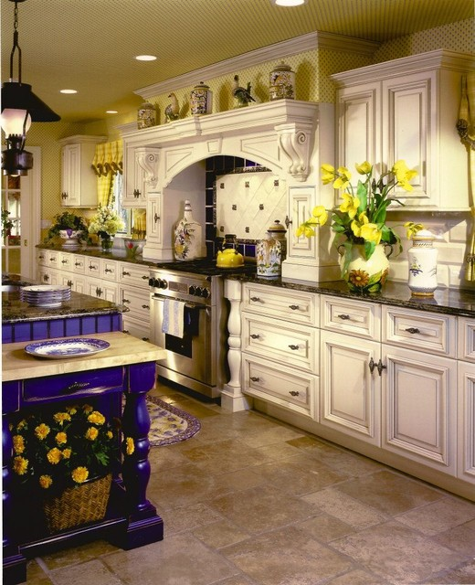 Country Blues traditional-kitchen