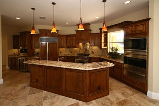 Country Classic Travertine Tiles - Traditional - Kitchen - tampa - by Stone-Mart