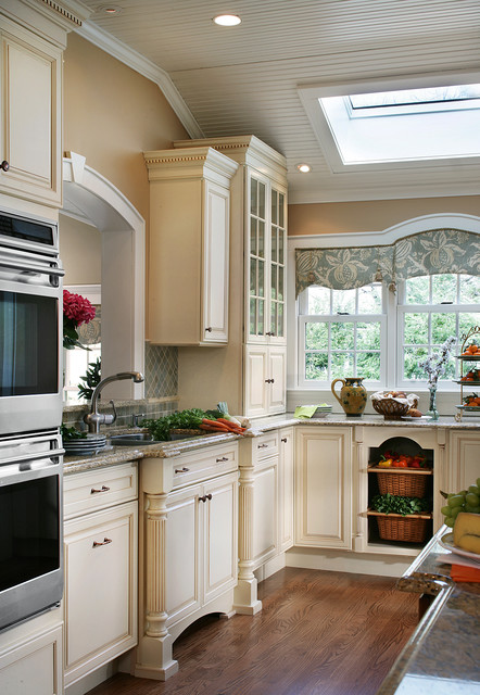 Country Cottage Galley Kitchen traditional-kitchen