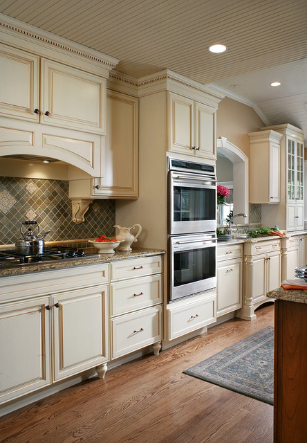Galley Country Kitchen country cottage galley kitchen - traditional - kitchen - new york