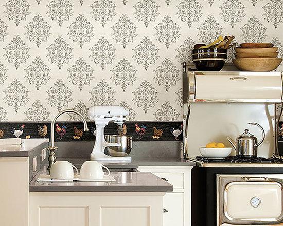 wallpaper borders kitchen design ideas remodels amp photos