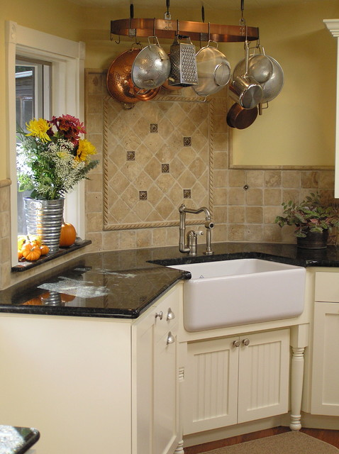 Exceptional Country Farmhouse Sink Traditional Kitchen